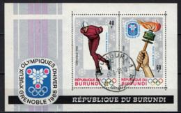 BURUNDI - 1968 - GIOCHI OLIMPICI INVERNALI A GRENOBLE - SOUVENIR SHEET - USATI - Burundi