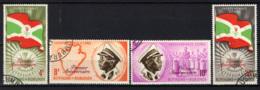 BURUNDI - 1963 - 1° ANNIVERSARIO DELL'INDIPENDENZA DEL BURUNDI - OVERPRINTED - USATI - Burundi