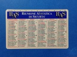 1988 CALENDARIETTO CALENDARIO RAS RIUNIONE ADRIATICA DI SICURTA' - Formato Piccolo : 1981-90