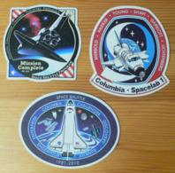 THEME CONQUETE DE L'ESPACE : LOT DE 3 AUTOCOLLANTS COLUMBIA - Stickers