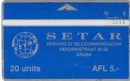 Aruba Old Phonecard - 20 Units AFL 5- - Aruba