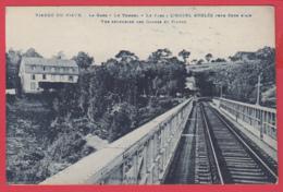 CPA-12-Viaduc De VIAUR -La Gare - Le Tunnel - Hôtel ANGLÈS* 2 SCANS *** - France