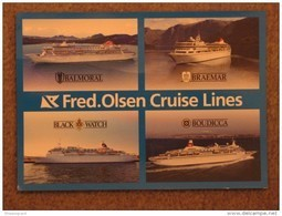 FRED OLSEN MULTIVIEW OFFICIAL - BRAEMAR/BALMORAL/BLACK WATCH/BOUDICCA - Steamers
