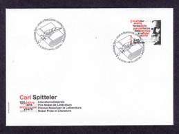6.- SWITZERLAND 2019 FDC 100 YEARS NOBEL PRIZE OF LITERATURE CARL SPITTELER - Premi Nobel