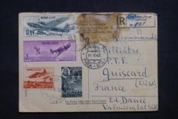 U.R.S.S. - Carte Postale De Riga En Recommandé Pour La France En 1946, Affranchissement Plaisant - L 43645 - 1923-1991 USSR