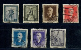 ALBANIA 1939 - SERIE ORDINARIA  - 7 VALORI USATI - Albania