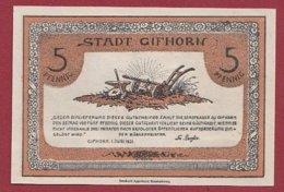 Allemagne 1 Notgeld De 5 Pfenning Stadt Gilhorn (RARE)  Dans L 'état N °4797 - Collections