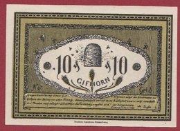 Allemagne 1 Notgeld De 10 Pfenning Stadt Gilhorn (RARE)  Dans L 'état N °4798 - Collections