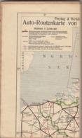12663-AUTO-ROUTENKARTE VON MITTEL-EUROPA-TELATA - Carte Geographique