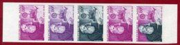 Mali 1972 #173, Color Proof Stripe Of 5, Samuel Morse, Inventor Of Telegraph - Mali (1959-...)