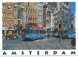Amsterdam Damrak Tram Tramway Strassenbahn Trolley Streetcar - Amsterdam