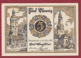 Allemagne 1 Notgeld De 5 Pfenning Stadt Tangerhausen (RARE)  Dans L 'état N °4802 - Collections