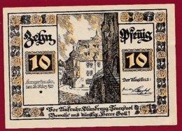 Allemagne 1 Notgeld De10 Pfenning Stadt Tangerhausen (RARE)  Dans L 'état N °4803 - Collections