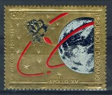 Gabon, Gold Stamp, Space, Apollo 15, 1971, VFUMNH VF - Gabon
