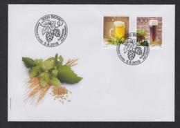 2.- SWITZERLAND 2019 FDC The Art Of Brewing Beer - Cervezas