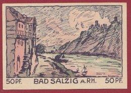 Allemagne 1 Notgeld De 50 Pfenning Stadt Salzig/A/Rhein   Dans L 'état N °4812 - [ 3] 1918-1933 : Repubblica  Di Weimar