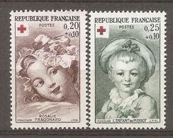 1962 Yv. N° 1367,1367   ** MNH  Croix-Rouge  Cote  4  Euro TBE - Frankreich