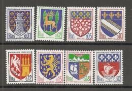 1962 Yv. N° 1351A à 1354B  Complet   ** MNH  Armoiries Cote  2,1  Euro TBE - Francia