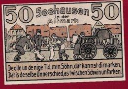 Allemagne 1 Notgeld De 50 Pfenning Stadt Seehausen (RARE)  Dans L 'état N °4815 - [ 3] 1918-1933 : República De Weimar