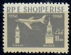 ALBANIA 1960 - 2° ANNIVERSARIO LINEA AEREA TIRANA-MOSCA - 11.50 LEK - MNH** - Albania