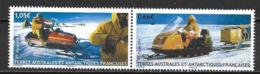 TAAF 2015 N° 737/738 Neufs En Paire Motoneige Raid Ibea - Französische Süd- Und Antarktisgebiete (TAAF)