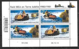 TAAF 2015 N° 737/738 Neufs En Bloc Motoneige Raid Ibea - Blocks & Kleinbögen