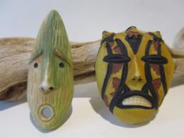 Fèves Brillantes -  Masques Alaska Et Pérou - Otros