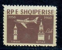 ALBANIA 1960 - 2° ANNIVERSARIO LINEA AEREA TIRANA-MOSCA - 1 LEK - MNH** - Albania