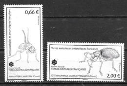 TAAF 2015 N° 730/731 Neufs Insectes Araignées - Französische Süd- Und Antarktisgebiete (TAAF)