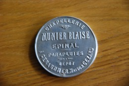 Miroir Publicitaire Epinal Chapellerie Munier Gerardmer - Profesionales / De Sociedad