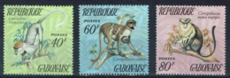 Gabon, Monkeys, 1974, MNH VF complete Set Of 3 - Gabon