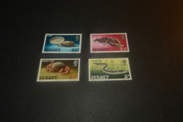 K23159 -set MNH Jersey 1973 -  SC. 91-94 - - Crustaceans