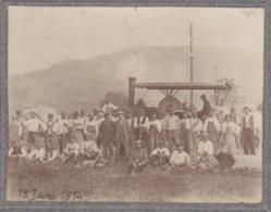° PHOTO °  TRAVAUX PUBLICS ° 19 Juin 1914 ° MATERIEL : CYLINDRE à VAPEUR? ° - Métiers
