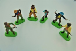 Britains Ltd, Deetail : COWBOYS Lot Of 6 Figures, Made In China, *** - Britains