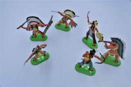 Britains Ltd, Deetail : INDIANS Lot Of 6 Figures, Made In China, *** - Britains