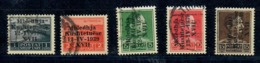 ALBANIA 1939 - ASSEMBLEA COSTITUENTE - 5 VALORI USATI - Albania