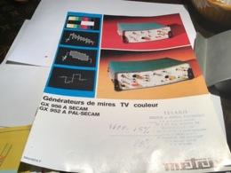 Générateur De Mire TV Couleur Marseille Annecy Société Des Produits Industriels ITT Metrix - Publicités