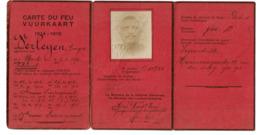 Carte Du Feu/Vuurkaart 1914-1918 Georges VERLEYEN - Uccle - 19è Régiment De Ligne / Linieregiment - 2 Scans - 1914-18