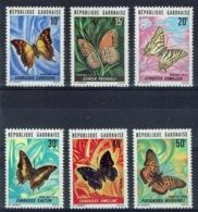 Gabon, Butterflies, 1973, MNH VF complete Set Of 6 - Gabon (1960-...)