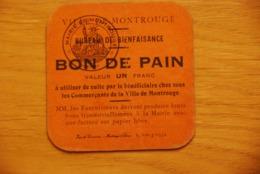 Bon De Pain Bureau De Bienfaisance Montrouge - Bons & Nécessité