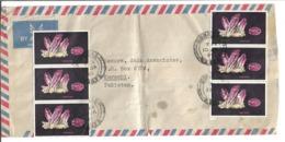 Kenya Airmail 1977 Amethyst Postal History Cover - Minerales