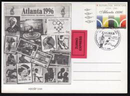 Croatia Zagreb 1996 / 100 Years Of The Olympic Games / Olympic Games Atlanta / Athletics - Summer 1996: Atlanta