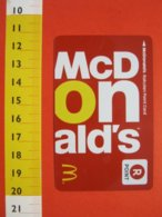 Z.08 JAPAN GIAPPONE MCDONALD'S FEDELITY CARD POINT  MC DONALDS CARTA FEDELTA' CIBO ALIMENTAZIONE - McDonald's