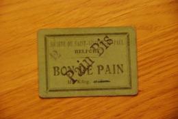 Bon De Pain Société De Saint Vincent De Paul Belfort - Bonos