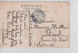 PR7431/ Sweden PC Ström Saltskog Stockholm 1916 > Camp Zeist Belgian Soldier PDG-POW Arrival Cancellation - WW I