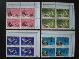 MAURITANIA BIRDS BLOCS OF 4 MNH** IMPERFORATED + PERF. 1986 1987 BUZIN - Mauritanie (1960-...)