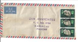 Kenya Airmail 1977 Tourmaline Mineral Postal History Cover - Minerales