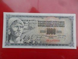 Yugoslavia-Jugoslavija 1000 Dinara 1974, P-86, AUNC,  - - - 100383 - - - - Jugoslavia