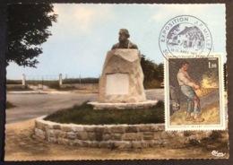 CM658 Millet Statue Exposition Millet Gréville 10-11/4/1971 Carte Maximum 1672 - 1970-79
