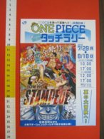 Z.08 JAPAN GIAPPONE DEPLIANT MANGA CARTONI ANIMATI GIORNALE FUMETTI ONE PIECE STAMPEDE GIAPPONESE - Pubblicitari